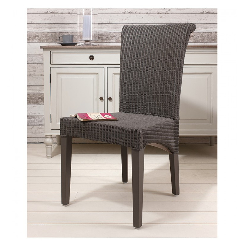 Lloyd Loom Chair Taupe Weave