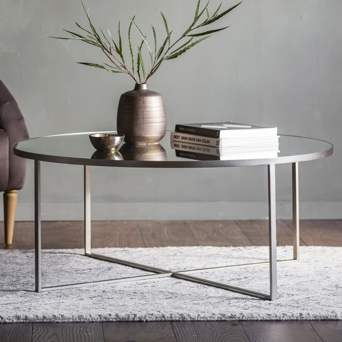 Contemporary Furniture Torrance: Torrance Coffee Table Silver W1000 X D1000 X H420mm